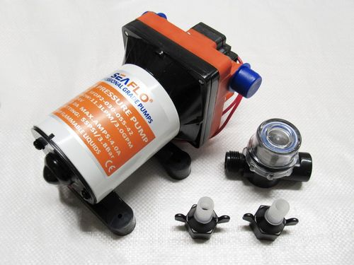 24V 11.3LPM 55PSI 2AMP Automatic Demand Diaphragm Pump - Water Fresh Water Pumps Yachts Boats